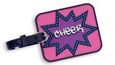 Pink Cheerleader Cheer Starburst Bag Tag