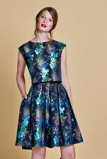 Ladies Louche Luxe Joyous Metallic Pleated Skirt Top Set Suit Dress Woman Size 8