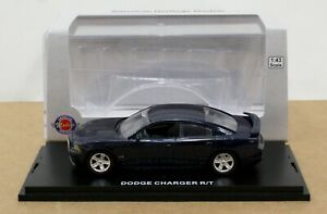 American Heritage AHM43-7 2012  Dodge Charger R/T 4 Dr Jazz Blue 1:43 Mint/ Box