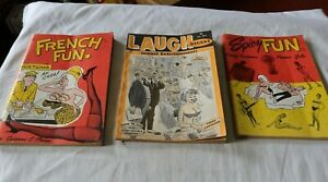 LOT Vintage Spicy Fun French Laugh Comic Books Magazines 1960's Cartoon Humor NR
