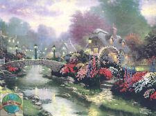 Cross Stitch Kit ~ Thomas Kinkade Lamplight Bridge at Dawn #50925-ECX