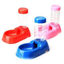 Pet Dog Puppy Cat Kitten Automatic Water Dispenser Food Dish Bowl Feeder Bottle+
