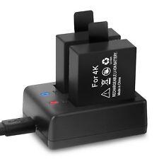 Crosstour Action Cam Batterie Ricaricabili 1050 mAh Batterie con cavo USB (U0Z)