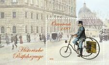 Austria 2016 * Historical postal vehicles - Postal worker with cycle * MNH