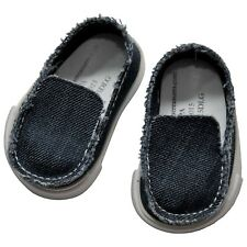 """18"""" Doll Blue Canvas Slip on Shoes, Clothes Accessories Fits American Girl NEW"""