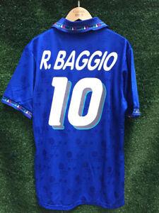 Italy 1994 Home Football Shirt / Roberto Baggio Jersey 10 / Retro Vintage Italy