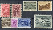 BELGIUM Sc B241-8(MI 506-13)*F-VF OG OR LH 1939 SET $65