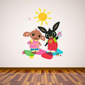 Bing - Bing and Sula Playing Wall Sticker Decal Art Vinyl Mural Kids