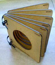 6 Moldes de DM para termoformar cabezas #Fofucha goma eva ,75~40 con Bridas