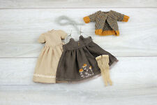 Blythe doll dress brown socks stockings bottom dress knitted jacket accesories