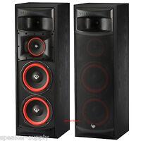 "Pair Cerwin Vega XLS-28 Dual 8"" 3 Way Subwoofer Floor Standing Tower Speakers"