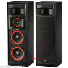 "Pair Cerwin Vega XLS-28 Dual 8"" 3 Way Subwoofer Floor Standing Tower Speakers"