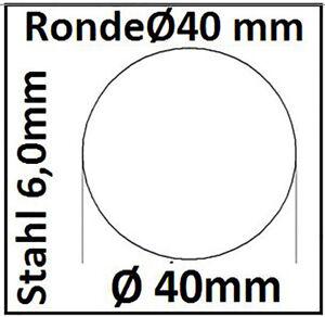 StahlRonde Ø40x6mm 0Loch SR40/0/6,0 mm 1422   taurusShop24.de