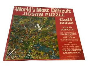 Worlds Most Difficult Jigsaw Puzzle Golf Edition Double Sided 529 Piece