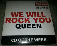 We Will Rock You - Queen - Rare UK CD produced by The Sun newspaper in 2002