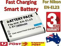 Fast Charging 2800mAh EN-EL23 batte For Nikon Coolpix B700 P610 P610S P900 P900S
