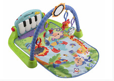Fisher-Price Kick and Play Piano Gym Baby Activity Mat Blue New