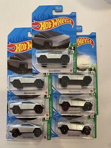 2021 Hot Wheels Tesla Cybertruck  Lot of 7 M Case MOC