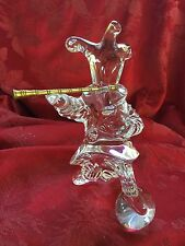 FLAWLESS Exquisite BACCARAT Crystal MASCARADE PICCOLO MUSICIAN Jean Boggio CLOWN