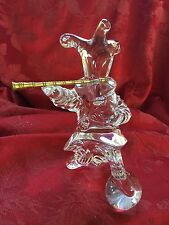 FLAWLESS Exquisite BACCARAT Crystal MASCARADE JESTER MUSICIAN Jean Boggio CLOWN