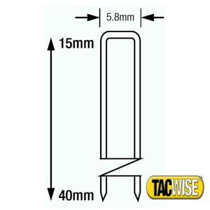 Tacwise Type 90 Series Staples length 15 18 20 22 25 30 32 35 40mm 18 Gauge