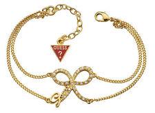 Guess Women's Bracelet Bow Pvd Gold with Swarovski UBB71302