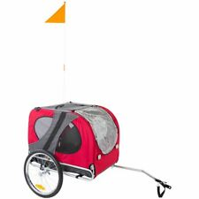Red Pet Carrier Dog Bike Bicycle Trailer Enclosed
