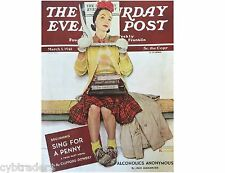Saturday Evening Post March 1, 1941 Alcoholic  Anonymous Refrigerator Magnet