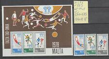 Malta:Block 5+Nr.571-573 postfrisch:Fußball WM in Argentinien 1978