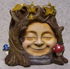 "Garden Accent Fairy or Gnome Battery Lighted Smiley Face House NEW 6 1/2"" tall"