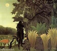 Henri Rousseau The Snake Chamer Giclee Canvas Print size