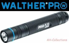 WALTHER PRO PL30 LED Taschenlampe Flashlight max 100 Lumen inkl. Batt. + Holster