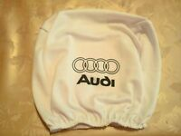 2x VOLVO white headrest seat cushion protective cover