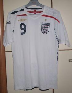 ENGLAND 2007/2008/2009 HOME FOOTBALL SHIRT JERSEY UMBRO #9 ROONEY SIZE S