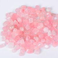 100g Square Rose Quartz Crystal Tumbled Stones Pink Mineral Garden Decor Lot