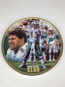 DAN MARINO 1996 Bradford Exchange Plate NFL Quarterback Club Dolphins F