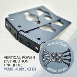 Genuine APC Vertical PDU Mounting (2) Brackets 870-15252 APC 0M-10075 +hardware