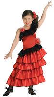 Spanish Princess Child Costume Flamenco Fancy Dress Girl Book Week Headpiece