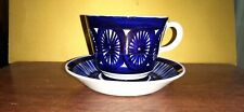 More details for rare vintage arabia finland valencia fiesta tea cup and saucer - ulla procope