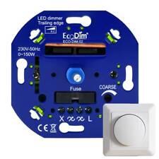 LED Dimmer 230V Einbau - Drehdimmer - Für alle Abdeckrahmen, Phasenabschnitt