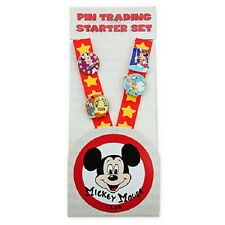 Disney Mickey Mouse Club Deluxe Pin Trading Starter Set New! With Lanyard!