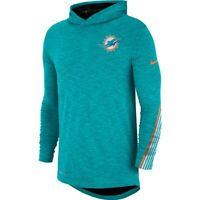 New Nike 2019 Miami Dolphins Sideline Scrimmage Dri-FIT Hooded Long Sleeve Shirt