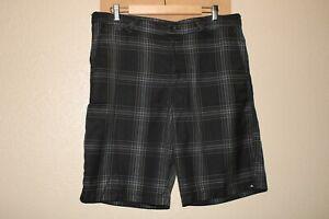 """QUIKSILVER Mens 36"""" Waist Plaid shorts Combine ship Discount"""