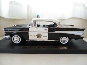YAT MING  1957 CHEVROLET BEL AIR CALIFORNIA HIGHWAY PATROL POLICE CHIEF CAR 1/18