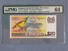 Singapore 20 Dollars P-12 ND(1979)  PMG 64