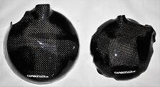 KAWASAKI ZX12R 2x CARBON KUPPLUNGSDECKEL LIMADEKEL ENGINE COVER CARBONE CARBONO