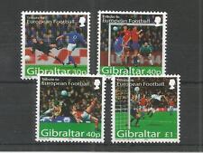 GIBRALTAR 2004 EUROPEAN FOOTBALL CHAMPIONSHIPS SG,1083-1086 U/MM N/H LOT 4042A