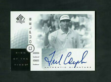 2001 Fred Couples Upper Deck SP Authentic Sign of the Times On-Card Auto #FC