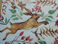 """New Laura Ashley Chasing Hare 50 x Paper Napkins Arts & Crafts Decoupage 13"""""""