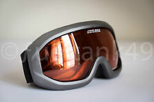 Adult Salice Summit Ski Goggles Onyx/Orange Lens